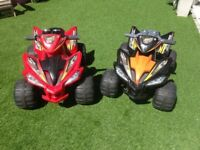 2 x Battery operated trikes