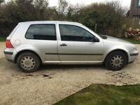 Volkswagen Golf E 1.4 2001 3dr hatchback