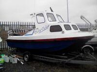 rigid raider fishing boat