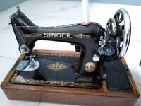 Singer vintage electric sewing machine - absolutely beautiful machine
