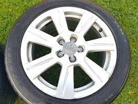 Orginal Audi 17 alloy wheels