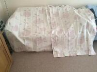 Laura Ashley Cream Floral Curtains