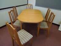 Dining Table and 6 chairs SOLD PENDING COLLECTION