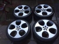 Volkswagen Monza Alloy Wheels Diamond Cut 5x100 18inch Golf MK4 Bora TT S3 Leon A3