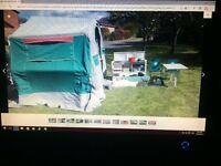 Trailer Tent all what you see included also hauling gas bottle electric hook up . £500
