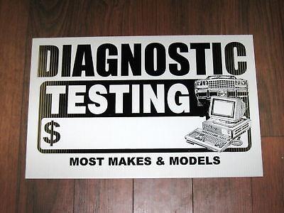 Auto Repair Shop Sign Diagnostic Testing Pricing
