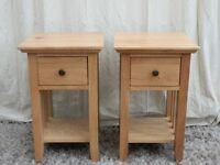 Hereford Oak 1 Drawer Bedside Cabinets x 2