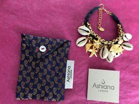 'Ashiana London' Viareggio Bracelet (22ct Gold plated)
