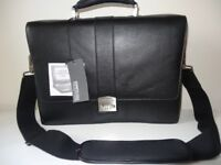 Kenneth Cole Reaction Black Leather Flapover Laptop Case Style: 524665