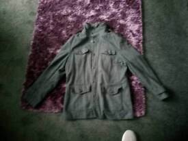 Thick Mens Large Grey Winter Coat