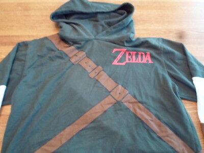 Link Hoodie Hooded Sweatshirt Shirt Sword On Back (Legend Of Zelda Link-hoodie)
