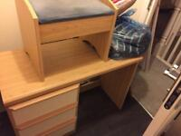 Dressing table, stool & bedside table