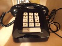 Black 12 button 1980s vintage telephone