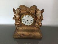 Neo classical gold designer clock
