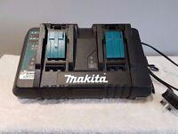 "NO OFFERS!!! MAKITA DC18RD 7.2v-18v ""TWIN""li-ion lithium ion 22 MIN charger"