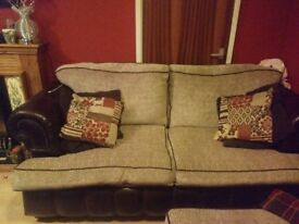 Chesterfield 3 seater sofa and chair