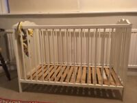 Wooden cot, used but good condition
