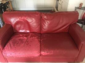 FREE 3 & 2 seater leather sofa