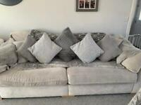 DFS Large Sofa 4 cream/beige/silver Used