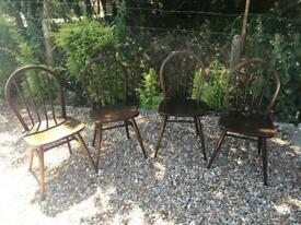 Ercol Windsor dining chairs x 4