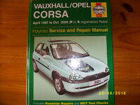 Vauxhall Corsa Service and repair Manual. ( P to X reg)
