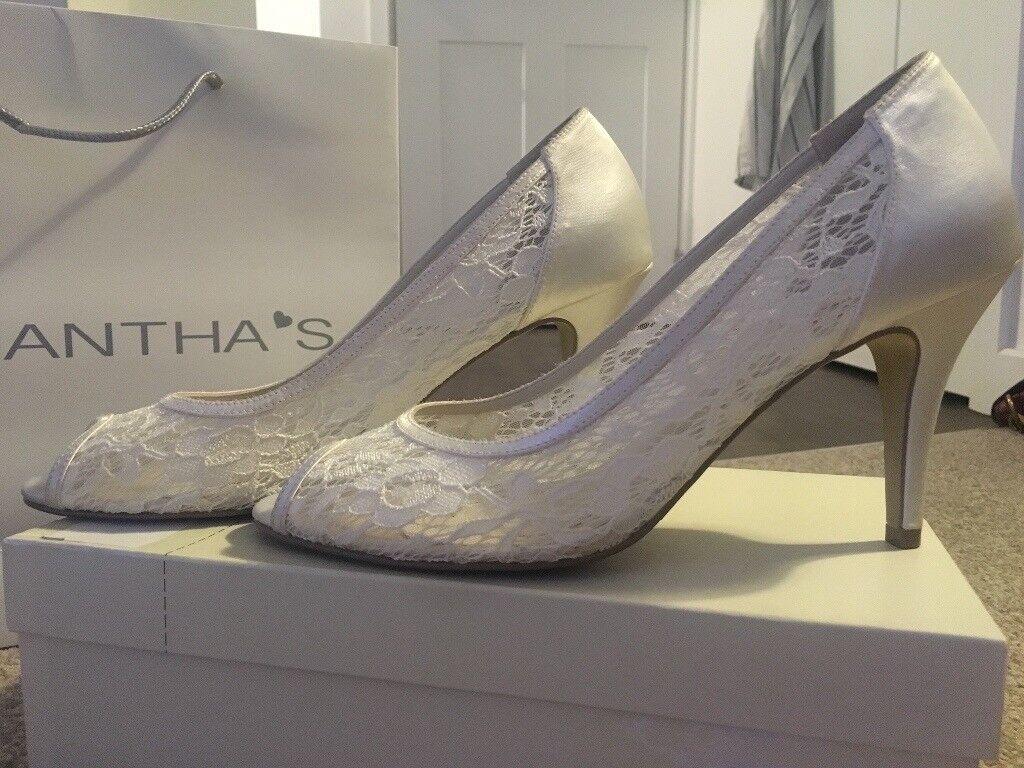 Peep Toe Wedding Shoes Image 1 Of 5
