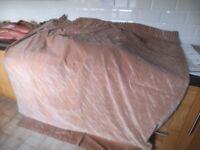 Crushed velvet curtains , washable