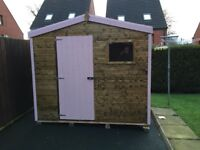 8ft x 6ft Playhouse with pink trim