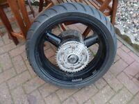 Suzuki hayabusa spare rear back rim