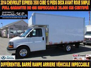 2014 Chevrolet Express 3500 CUBE 12 PIEDS DECK 38.000 KM FULL GA