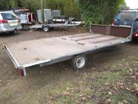 GALVANISED 14 X 7-6 FLATBED TRAILER WITH HEADBOARD (1500KG BRAKED)......