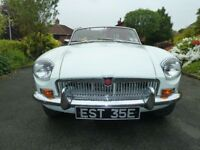 1967 MGB Mk2 Roadster White, with Black leather seats, Beautiful car a real head turner