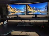 "2x 24"" Acer S240HL Computer Monitors"