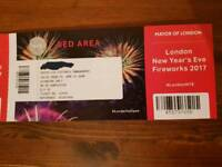 4 tickets to London NYE Fireworks - Red Zone