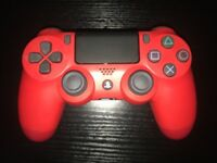 Red PS4 controller, used handful of times, very new PlayStation 4