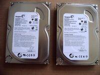 "2 X SEAGATE 500GB SATA INTERNAL DESKTOP PC 3.5"" HARD DRIVES"