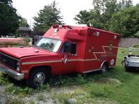 former firetruck/ ambulance