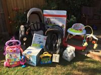 BABY BUNDLE; Grecco buggy, Grecco carseat and Isofix, baby walker and much much more....