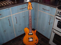 Cort CL200 electric guitar with Marshall combo amp