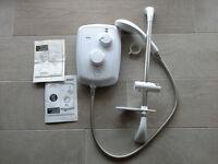 Triton Zante 3 8.5Kw white plastic bathroom electric shower & riser rail set