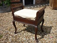 Vintage Piano Stool with Storage Compartment