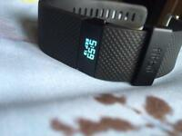 Fitbit Charge HR large black watch in good condition