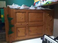 Childs pine wardrobe