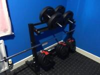 Gym Equipment For Home Weight Rack Plus 42kg Weigh Set