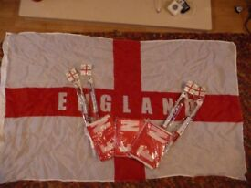 150 England Car Flags & 25 Extra Large Flags ideal for carboot!