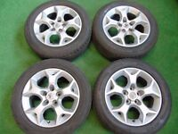 """VAUXHALL ASTRA, VECTRA, ZAFIRA, SIGNUM, SRI 16"""" ALLOY WHEELS WITH TYRES"""