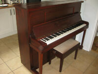 "Upright Piano ""Wagner"" c. 1940s and adjustable height stool"