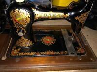 Antique Jones Hand Sewing Machine