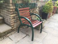One Garden Seat - Wrought Iron Fittings
