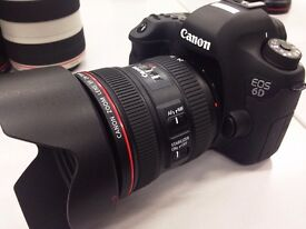 Canon 6D + EF 24-70mm f/4 L IS USM + 2 Battery pack